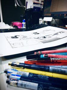 漫画、原稿