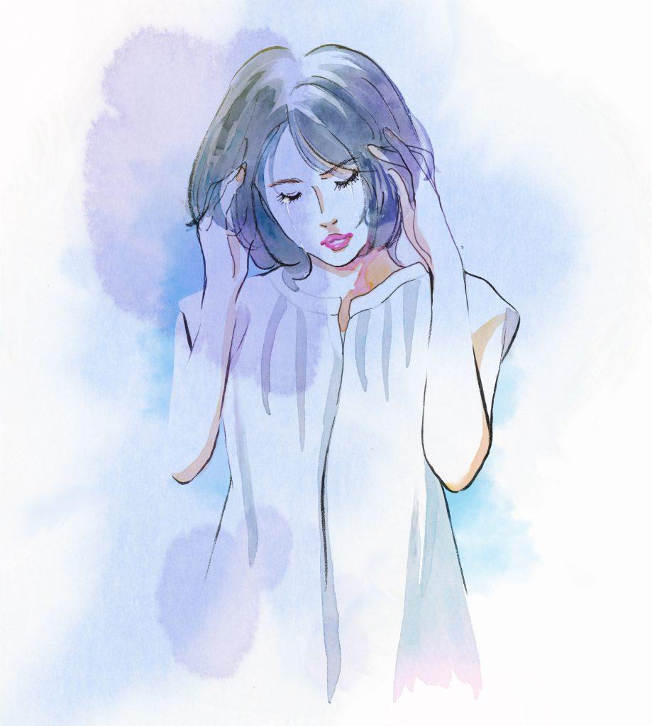 女性、泣き顔