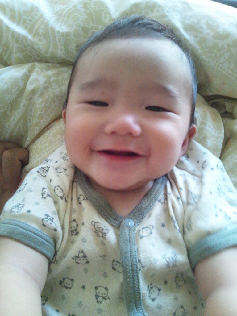 笑顔,赤ちゃん